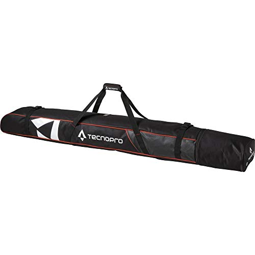 Tecnopro Skisack Cover Carving 2P - schwarz/rot