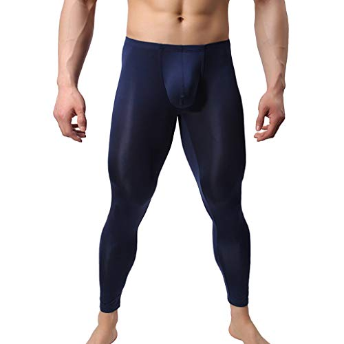 Qinhanjia Men's Sexy Lightweight Fashionable Sexy Close-Fitting Leggings Super-Thin Thermal Pants, Men's Sexy Fashionable Sexy Close-Fitting Super-Thin Thermal Pants