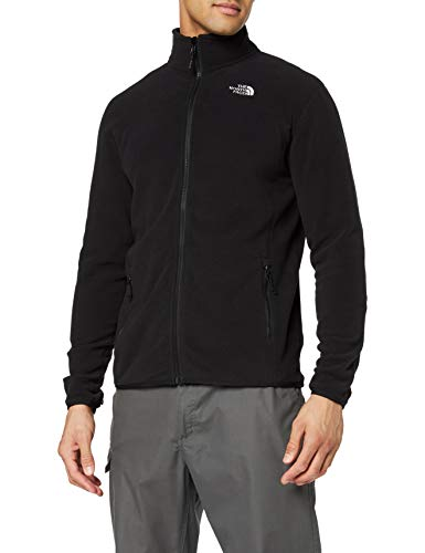 The North Face Herren Fleecejacke 100 Glacier, Schwarz (tnf black), L
