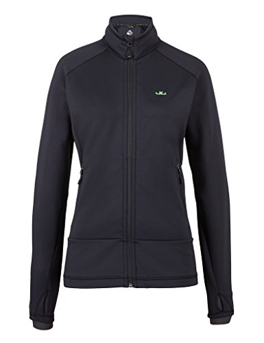 Jeff Green Damen Midlayer Softshell Sport Jacke Fleece Innenfutter Fay, Größe - Damen:40, Farbe:Black