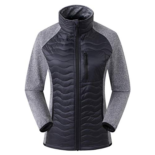 Amazon Marke: Eono Essentials Damen DuPont Sirona Eco Wattierte Hybridjacke, Schwarz, XL