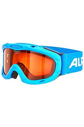 ALPINA Kinder Skibrille Kids Ruby S (Einheitsgröße, Blue-Blue)
