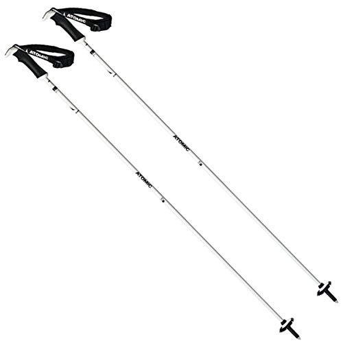 Atomic Damen 1 Paar All Mountain-Skistöcke AMT Carbon SQS W, 120 cm, Carbonverbund, weiß/schwarz, AJ5005434120