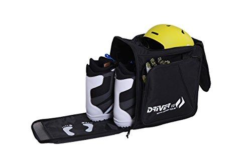 Driver13  Skistiefelrucksack mit Helmfach + Skischuhrucksack mit Helmfach für Hart + Snowboard Boot + Inliner + Bootbag Tasche schwarz