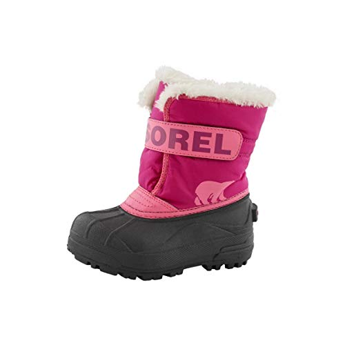 Sorel Unisex-Baby-Winterstiefel, TODDLER SNOW COMMANDER, Rot (Tropic Pink/Deep Blush), Größe: 24