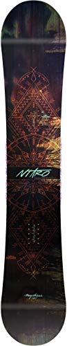 Nitro Snowboards Damen Mystique '19 fehlerverzeihendes und leicht zu kontrollierendes Girls All-Mountain Snowboard Gullwing Rocker Camber Directional Twin Board, Mehrfarbig, 146