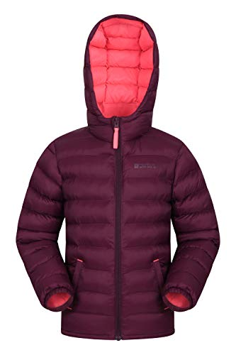 Mountain Warehouse Seasons Gepolsterte Jacke für Kinder, geeignet für alle Jahreszeiten - wasserdichte Winterjacke, leicht & warm Beerenton 140 (9-10 Jahre)