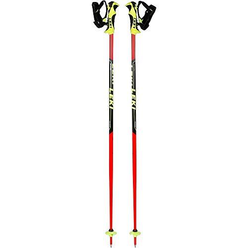 LEKI Kinder Worldcup Lite SL Skistöcke, Neonrot/Schwarz/Weiß/Neongelb, 95 cm