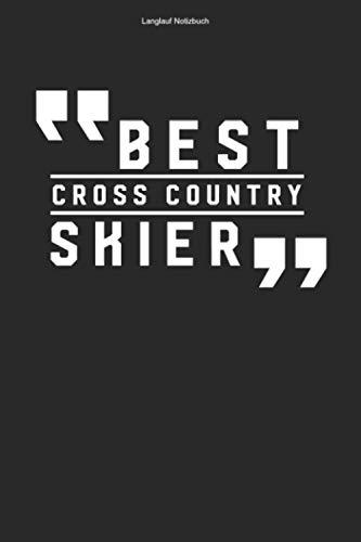Langlauf Notizbuch: 100 Seiten | Punkteraster | Cross Country Ski Loipe Team Langläufer Skifahrer XC Skilangläufer Skilanglaufen Geschenk Skier Langlaufen Skifahren