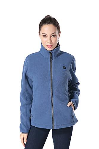 Pau1Hami1ton PJ-06 Damen Winterjacke beheizbare Heiz-Jacke beheizbare Softshell-Jacke Heat Jacket (XL,Blue)