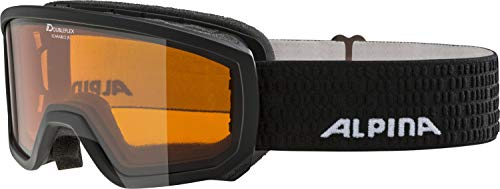 Alpina Kinder Scarabeo Jr. Skibrille, Schwarz, One size