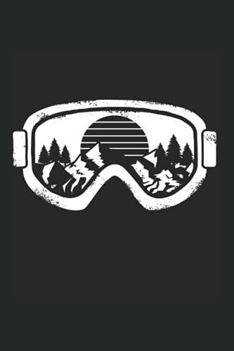 Notizbuch: Wintersport Ski Snowboard Schneelandschaft Brille Notizbuch DIN A5 120 Seiten für Notizen Zeichnungen Formeln | Organizer Schreibheft Planer Tagebuch