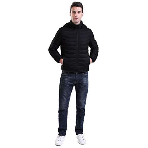 Wenhe Men Jacke Heizjacke USB Aufladen Winter Hoodie Heizung Kleidung Mantel Geeignet für Camping im Freien, Wandern, Radfahren, Skifahren