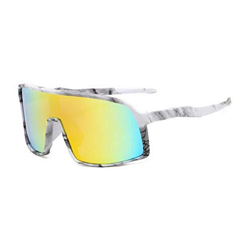 IJEWALRY Frauen Sonnenbrillen Brillen,Windproof Mirrored Men Anti-Fog Schneemobil Brille Brille Brillen Fahren Angeln Square Brille Frauen Summer Shades Eyewear Flower-Gold Mirro