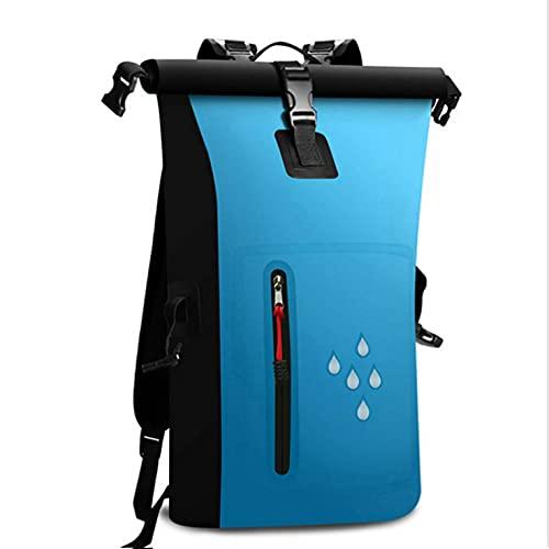 Allocat Dry Bag Wasserdichter Beutel Wasserdicht 25L Packsack Rucksack 25l wasserdichte Taschen für Boote für Boot und Kajak, Angeln, Rafting, Schwimmen, Camping und Snowboarden (Blau)