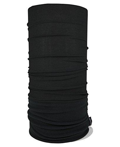 WÄRMENDES FLEECE Multifunktionstuch Polar Schlauchtuch das Halstuch für kalte Herbst und Wintertage. aktuelle Farben, Farbe Polar Tuch:Schwarz uni