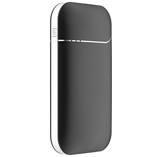 OKCS Wiederaufladbarer Handwärmer - 7800 mAH und 2A elektronischer Taschenwärmer Powerbank externer Akku USB Portable kompatibel mit iPhone, iPad, iPod/Galaxy etc. - Night Black