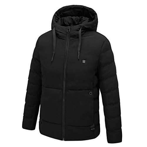 Biggong Elektrische BeheizteDaunenmantel Jacke mit mit 3 Fakultativ Temperatur für Herren,Männer 25°~ 45° Warm Outdoor Camping Wandern Jagd Heizjacke