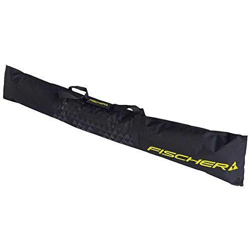 FISCHER Erwachsene (Unisex) Eco Alpine Skitasche, schwarz-gelb, 190cm