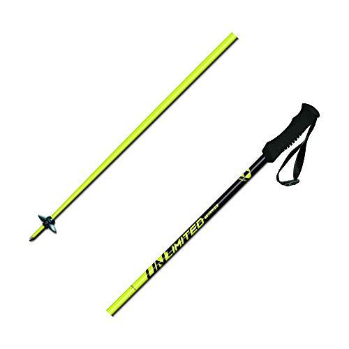 FISCHER Unisex– Erwachsene Unlimited Skistöcke, gelb, 120 cm
