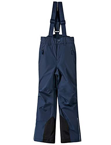 BenBoy Kinder Skihose mit Träger Schneehose Outdoor Winddichte Wasserdicht Wandern Winterhose Snowboardhose für Mädchen Jungen,KZ2216-Darkblue-140