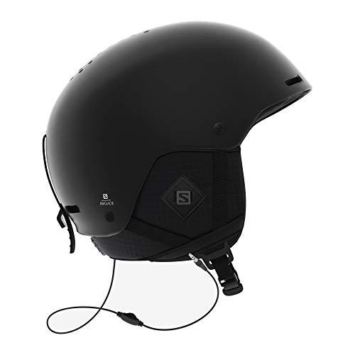 Salomon Brigade+ Audio Herren Ski- und Snowboardhelm mit Audiosystem, ABS-Schale, SMART-Technologie, Größe M, Kopfumfang 56-59 cm