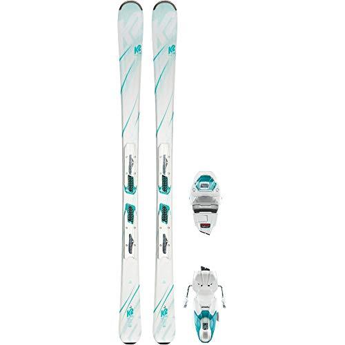 K2 Damen LUV 75 White ER3 10 COMPACT QUIKCLIK All-Mountain Ski weiß 149