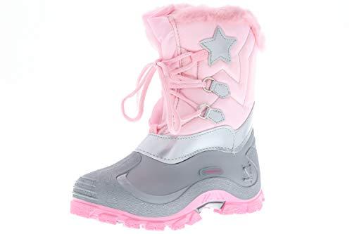 Spirale Kinder Mädchen gefütterte Winterstiefel Snowboots Cadmium-, Nickel- und Bleifrei rosa, Größe:20, Farbe:Rosa