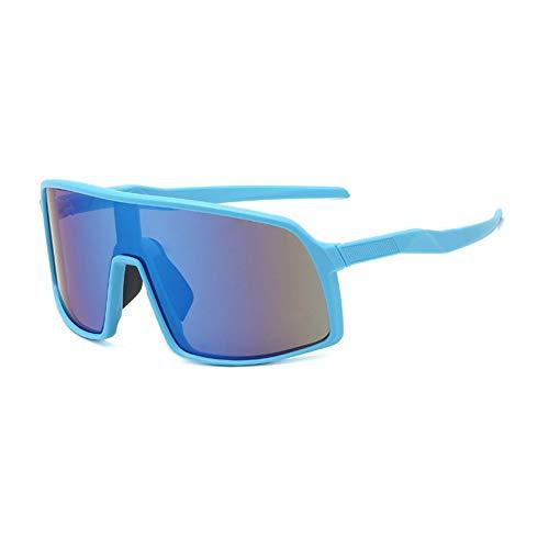 IJEWALRY Frauen Sonnenbrillen Brillen,Windproof Mirrored Men Anti-Fog Schneemobil Brille Brille Fahren Fishing Square Brille Frauen Summer Shades Eyewear Blue-Blue Mirror