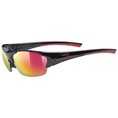 uvex Unisex– Erwachsene, blaze III Sportbrille, black red mat/red, Einheitsgröße