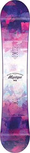 Nitro Snowboards Damen Mystique Brd '21 Fehlerverzeihendes Girls All-Mountain Snowboard Gullwing Directional Twin Board, mehrfarbig, 142