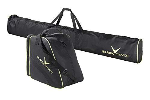 Black Crevice Unisex– Erwachsene Skitaschen Set, schwarz/gelb, Einheitsgröße