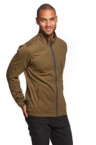 Jeff Green Herren Midlayer Softshell Sport Jacke Fleece-Innenfutter Jesper, Größe - Herren:M, Farbe:Dark Olive