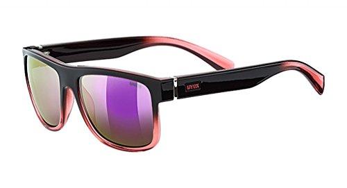 Uvex Unisex-Erwachsene lgl 21 Sportsonnenbrille, Black Rose/Mir. Pink, Einheitsgröße