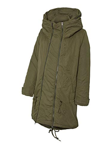 MAMALICIOUS Mama Licious Female Umstandsmantel Padded Windproof 3-in-1 LOlive Night