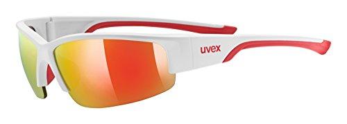 uvex Unisex– Erwachsene, sportstyle 215 Sportbrille, white red/red, Einheitsgröße