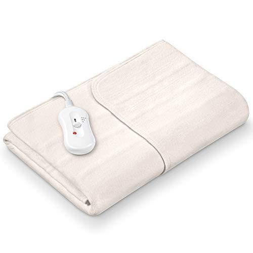 Sanitas SWB 20 Wärmeunterbett aus Vlies   mit Sicherheitssystem und 3 Temperaturstufen   einfache Fixierung auf Bett und Matratze   Waschbar bei 30⁰   150 x 80 cm