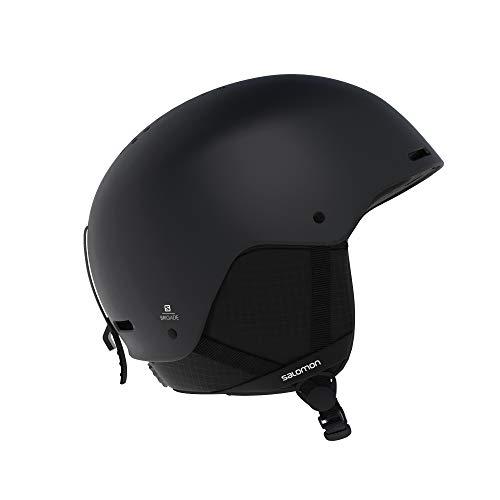 Salomon Herren Ski- und Snowboardhelm, ABS-Schale, EPS 4D-Innenschaum, Größe M, Kopfumfang 56-59 cm, Brigade, schwarz, L40537200