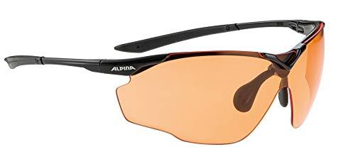 ALPINA Unisex - Erwachsene, SPLINTER SHIELD VL Sportbrille, black, One size