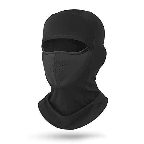 Roysmart Sturmhauben Skimaske Balaclava Motorradmaske, Multifunktional Dünn und Atmungsaktiv Skihaube Masken für Damen und Herren (Schwarz)