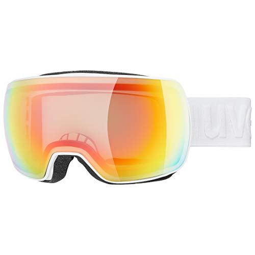 uvex Unisex– Erwachsene, compact V Skibrille, white, one size