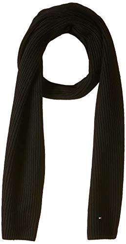 Tommy Hilfiger Herren PIMA COTTON CASHMERE SCARF Schal, Schwarz (Black Bds), One Size (Herstellergröße: OS)