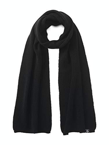 TOM TAILOR Denim Herren Basic Schal, 29999-Black, OneSize