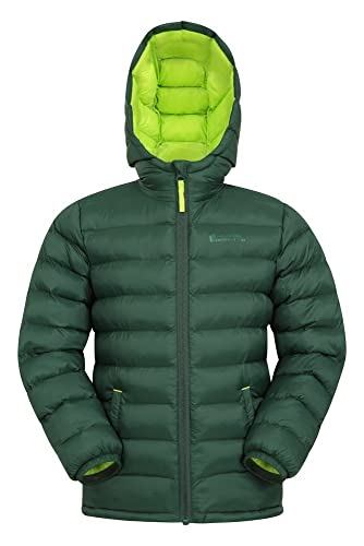 Mountain Warehouse Seasons Gepolsterte Jacke für Kinder, geeignet für alle Jahreszeiten - wasserdichte Winterjacke, leicht & warm Khaki 13 Jahre