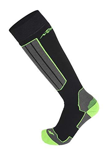 Nordica All Mountain Comfort Ski Socken, Black/Neon Green, 43-46