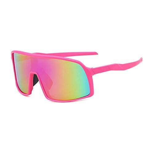 IJEWALRY Frauen Sonnenbrillen Brillen,Windproof Mirrored Men Anti-Fog Schneemobil Brille Brille Bringen Fahren Angeln Square Brille Frauen Summer Shades Eyewear Pink-Purple Mirror