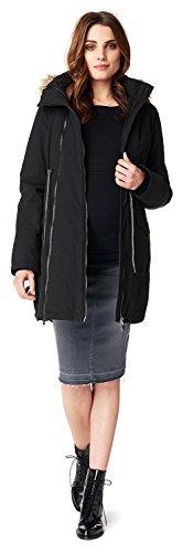 Noppies Damen Jacket Malin 2-Way Umstandsjacke, Schwarz, M