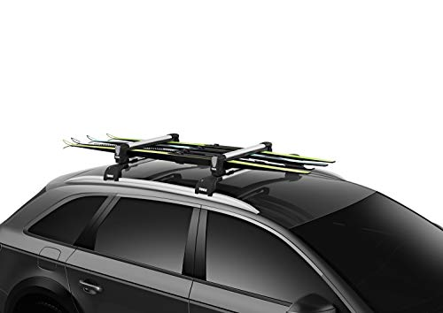 Thule Ausrüstung 4Paar Ski/2Snowboards Carrier, Unisex, 7324, Silber, Einheitsgröße