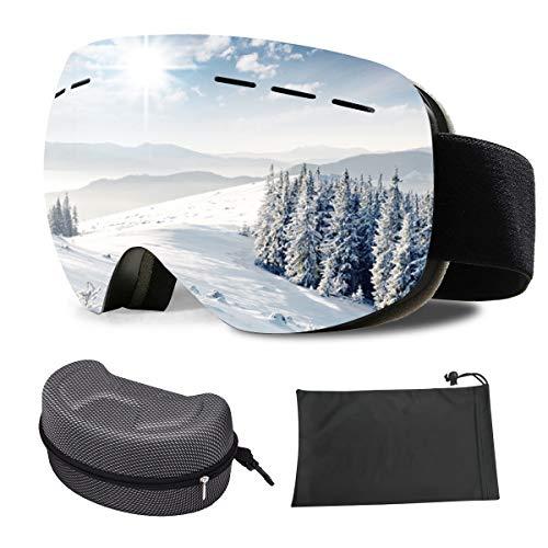 DANXIAN Skibrille für Damen und Herren, Ski Snowboard Brille OTG Doppel-Objektiv UV-Schutz Anti-Fog Ski Goggles Helmkompatibilität, Verbesserte Belüftung für Skifahren