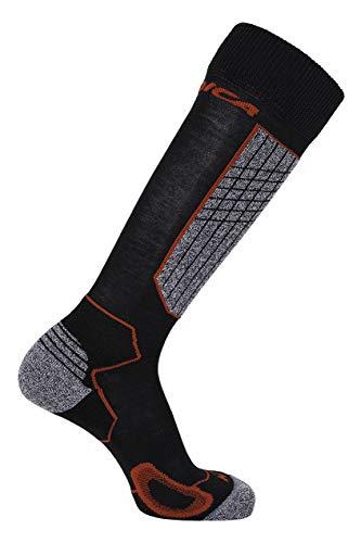 Nordica Herren High Performance Ski Socken, Black/Red, 43-46